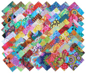Kaffe Fassett Philip Jacobs PIZAZZ Precut 10cm Cotton Fabric Quilting Squares Charm Pack Assortment Westminster Fibres 72 Pieces