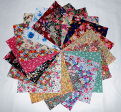80 13cm Among the Flowers Quilting Fabric Charm Pack