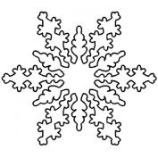 18cm Snowflake Quilting Stencil by QCI - BJ56