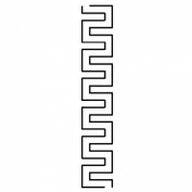4.4cm Bobbie's Blocks Quilting Stencils by QCI - HS63
