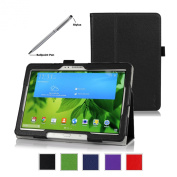 ProCase Samsung Galaxy Tab PRO 10.1 Tablet Case with bonus stylus pen - Bi-Fold Stand Cover Case for Galaxy TabPRO 26cm SM-T520,T525