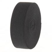 Cotowin 1.9cm Wide Black Knit Heavy Elastic 3m