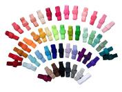 Via's 1.6cm Fold Over Elastic : 50 Yards FOE Solids Variety Bundle / 1 Yard Each Colour