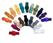 Via's 1.6cm Fold Over Elastic : Jewel Earth Tones : 20 Yards FOE Solids Variety Bundle / 1 Yard Each Colour