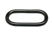 Generic Metal Gun Black Oval Shape Buckle 3.8cm X 1.4cm Inside Dimensions for Belt Handbag Strap Keeper Accessories Pack of 12