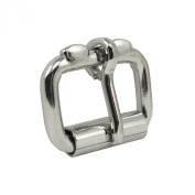 Springfield Leather Company Nickel Plate 2.5cm Roller Buckle