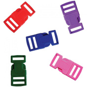 Pepperell Parachute Cord Bracelet Buckles, 15mm, Assorted Colour, 5 Per Package