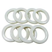 #15 Plastic Grommet, 4.8cm ID, 8 Sets, 8 SETS, WHITE