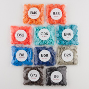 Starter Pack of 250 Complete KAM Snaps/Plastic Snap Sets for Cloth Nappy/Bibs/Unpaper Towels/Nappies/Buttons/Mama Pads