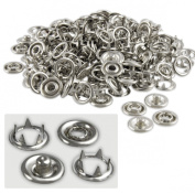 100-Piece 0.5cm Snap Fastener Refills - 1cm Outside Diameter