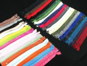 Assorted 18cm Zippers #3 For Skirt & Dress Pack 25