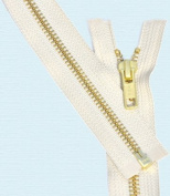 70cm Medium Weight Jacket Zipper YKK #5 Brass ~ Separating ~ 841 Snow White