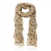 Cool88 2014 New Fashion Womens Polka Dot Printing Chiffon Long Scarf Shawl Wraps