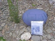Meditation Cushion; Inflatable, Zafu; Blue