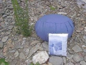 Meditation Cushion; Inflatable, Zafu; Blue