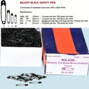 Safety Pins - Black Safety Pins Size #00 - Length 1.9cm