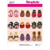 Simplicity 1677 Baby Shoes in Three Sewing Pattern, Size A