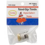 Colonial Needle Raised Edge Thimble, Size 8