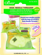 Clover Desk Needle Threader, Green