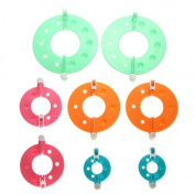 Foxnovo 8pcs 4 Sizes Essential Pompom Maker Fluff Ball Weaver DIY Needle Craft Tool Kit
