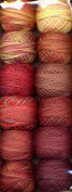 Valdani Perle Cotton Embroidery Thread Size 12 Fire Balls Collection