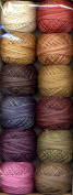 Valdani Perle Cotton Embroidery Thread Size 12 Cottage Garden Fruits & Flowers Collection