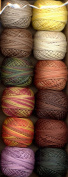 Valdani Perle Cotton Embroidery Thread Size 12 Royal Harvest Collection