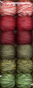 Valdani Perle Cotton Embroidery Thread Size 12 Two at Christmas Collection