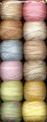 Valdani Perle Cotton Embroidery Thread Size 12 Pastels Collection