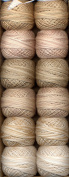 Valdani Perle Cotton Embroidery Thread Size 12 Two in Beige Collection