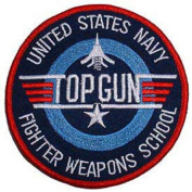 U.S. Navy Top Gun Fighter Weapons School Patch 7.6cm