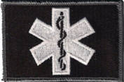 EMT Star Of Life Tactical Patch - Black/White by Gadsden and Culpeper