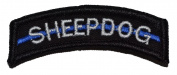 Sheepdog Thin Blue Line Tab Military Patch / Morale Patch - Black