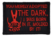 """Bane Speech """"You Merely Adopted the Dark"""" Dark Knight 2x3 Military Patch / Morale Patch - Black with Red"""