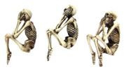 See Hear Speak No Evil Skeleton Skull Computer Monitor Toppers and Shelf Sitters 7cm Tall