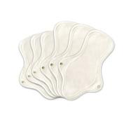 Organic Cotton Reusable Cloth Menstrual Pads - 3 Regular & 3 Large Pads