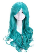 Kamo 60cm Long Wavy Cosplay Women Girl Costumes Hair Full Wigs
