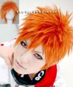 Modou Cosplay Kurosaki Ichigo Orange Short Cosplay Party Hair Wig