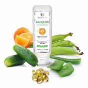 Sunscreen For Face ★ SPF 45 PABA FREE Clear Mineral Zinc Oxide 120ml Anti Ageing UVA Broad Spectrum. Cucumber Aloe Vera Lotion With Vitamin C,D,E ★ Non Comedogenic. Waterproof, Sweatproof. OIL FREE. 365 DAY GUARANTEE!!