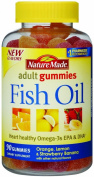 Nature Made Fish Oil Adult Gummies, Pineapple-Orange Peach and Mango 90 ea