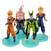 4x Dragon Ball Z Son Goku Saiyan Cell Gohsan Evil Majin 11cm-13cm PVC Figure Set