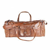81stgeneration Genuine Leather Vintage Weekend Travel Sports Gym Leisure Bag Holdall