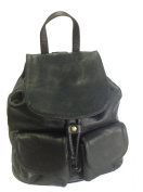 Black Italian Leather Rucksack, Handbag or Backpack