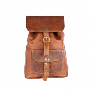 81stgeneration Genuine Vintage Leather Rucksack Daypack Backpack College Campus Bag