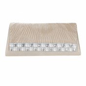 Womens Zoe Diamante Rouched Clutch Bag