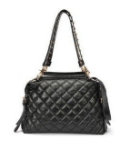 Cooler New Fashion Black quilted bag OL studded shoulder bag hobo handbag with timeless