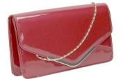 Paris Patent Envelope Style Evening Prom Party Bridal Clutch Bag -- SwankySwans