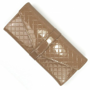 Camel Glossy Leather Envelope Purse