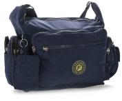 Big Handbag Shop Unisex Medium Fabric Messenger Bag with Pouch