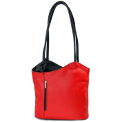 IO.IO.MIO Borsetta per le Icone® Women's Shoulder Bag Red Rot Schwarz